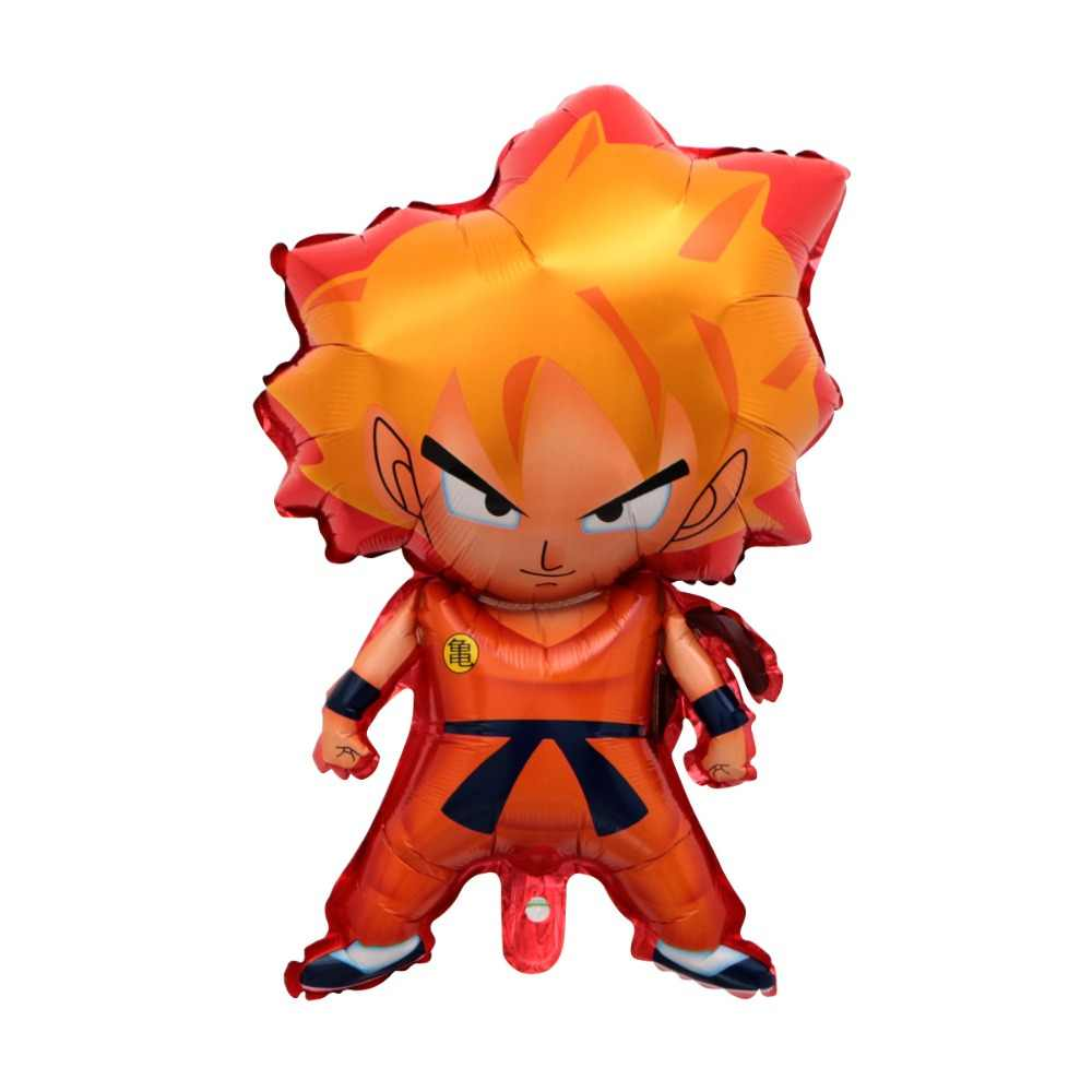 1 pçs novo anime dragon ball goku figura de ação balão feliz aniversário festa decoração crianças meninos decoração brinquedos presentes