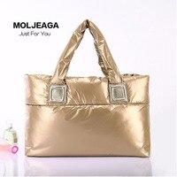 MOLJEAGA 2017 Luxury Handbags Women Bags Designer Shoulder Handbag Space Cotton Bag Womens Bag Women Leather