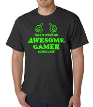 Awesome Gamer, Adult T-shirt, Gaming/Funny/Novelty/Comedy, Ideal Birthday Gift Men T Shirt 100% Cotton Print Shirts