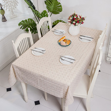 Waterproof oil white love tablecloth and Oil-proof Printing non-hollowed
