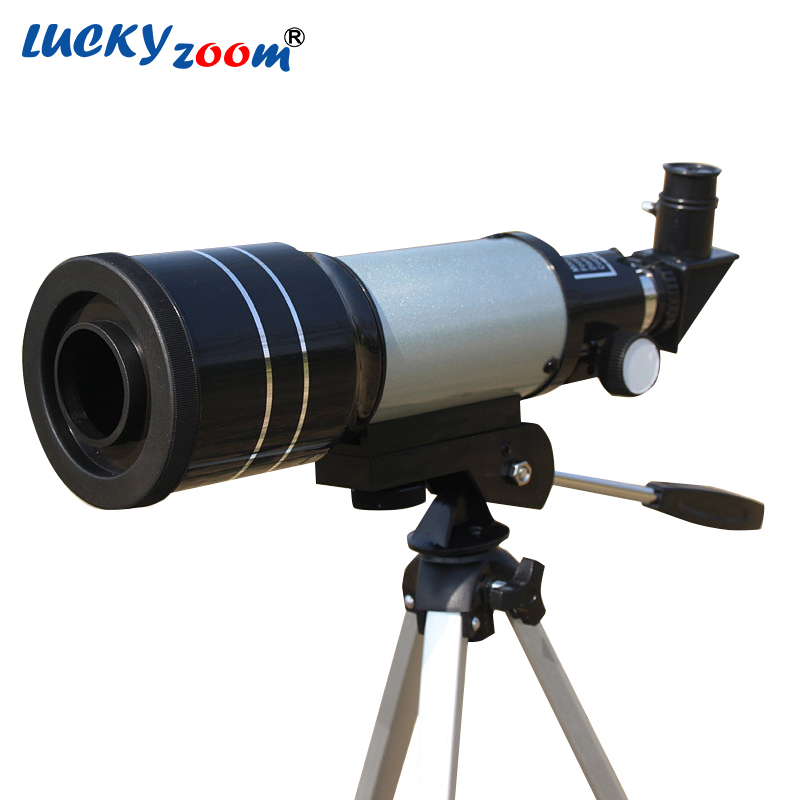 Luckyzoom F70300 Astronomical Telescope High Definition Viewing With Tripod Tourism Monocular Telescope Gift Free Shipping jiehe high quality cf350 60mm monocular space astronomical telescope with tripod powerful zoom monouclar telescope high times