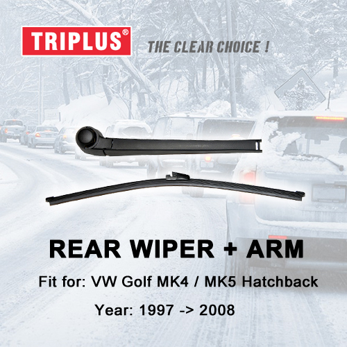 Rear Wiper Arm with Blade for VW Golf 5 Hatchback Variant Estate GTI Golf 4, Rear Wiper Arm & Rear Wiper Blades