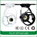 24W track lamp fixture white black aluminum rail light fixture par30 bulb track lighting