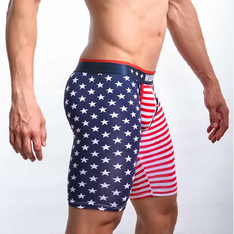 Men's Broad Sash Striped Sleep Bottoms Casual Comfortable Indoor Fitness Morning Jog Middle-Pants U Convex Pouch Erotic Lingerie