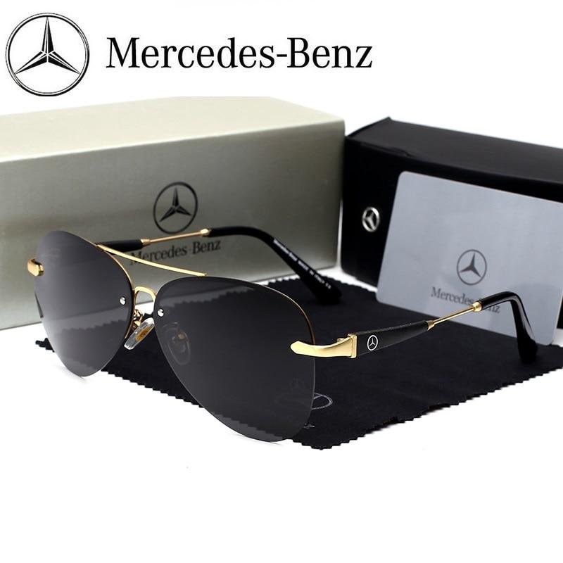 cfbe1ca90 Mercedes Benz sunglasses Brand Best Men's Sunglasses Polarized Mirror Lens  Big Oversize Eyewear Accessories Sun Glasses 743-in Sunglasses from Men's  ...