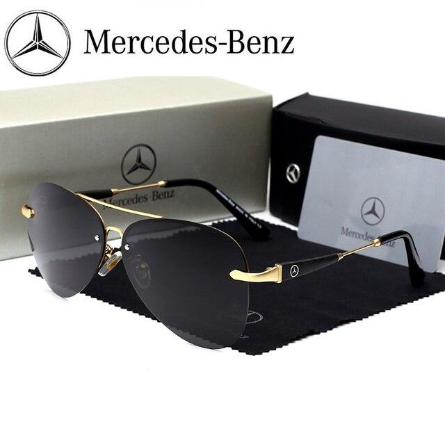 Mercedes-Benz sunglasses Brand Best Men's Sunglasses Polarized Mirror Lens Big Oversize Eyewear Accessories Sun Glasses 743