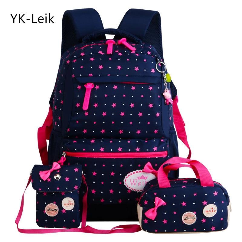YK вебе-leik звезда печати дети школьные сумки для девочек-подростков Детские рюкзаки ортопедии ранцы Рюкзак mochila infantil