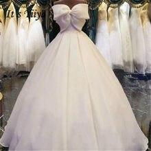 Het YiiYa Elegante Grote Boog Strapless Trouwjurken Fashion Back Lace Up  Floor-lengte Bruidsjurken MD006 c1a3714295f3