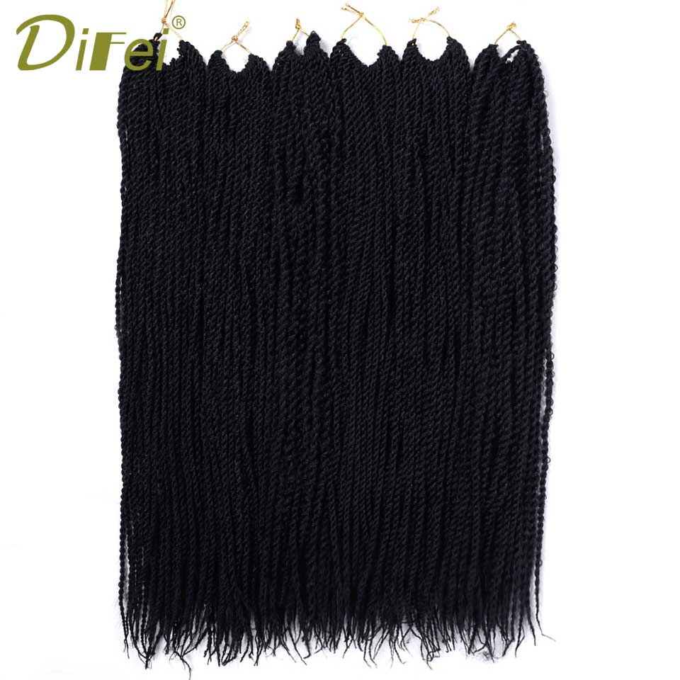 DIFEI Products Twist Crochet Hair Extensions 1-7Packs Ombre Kanekalon Crochet Braids Senegalese Twist Hair 22 30Strands