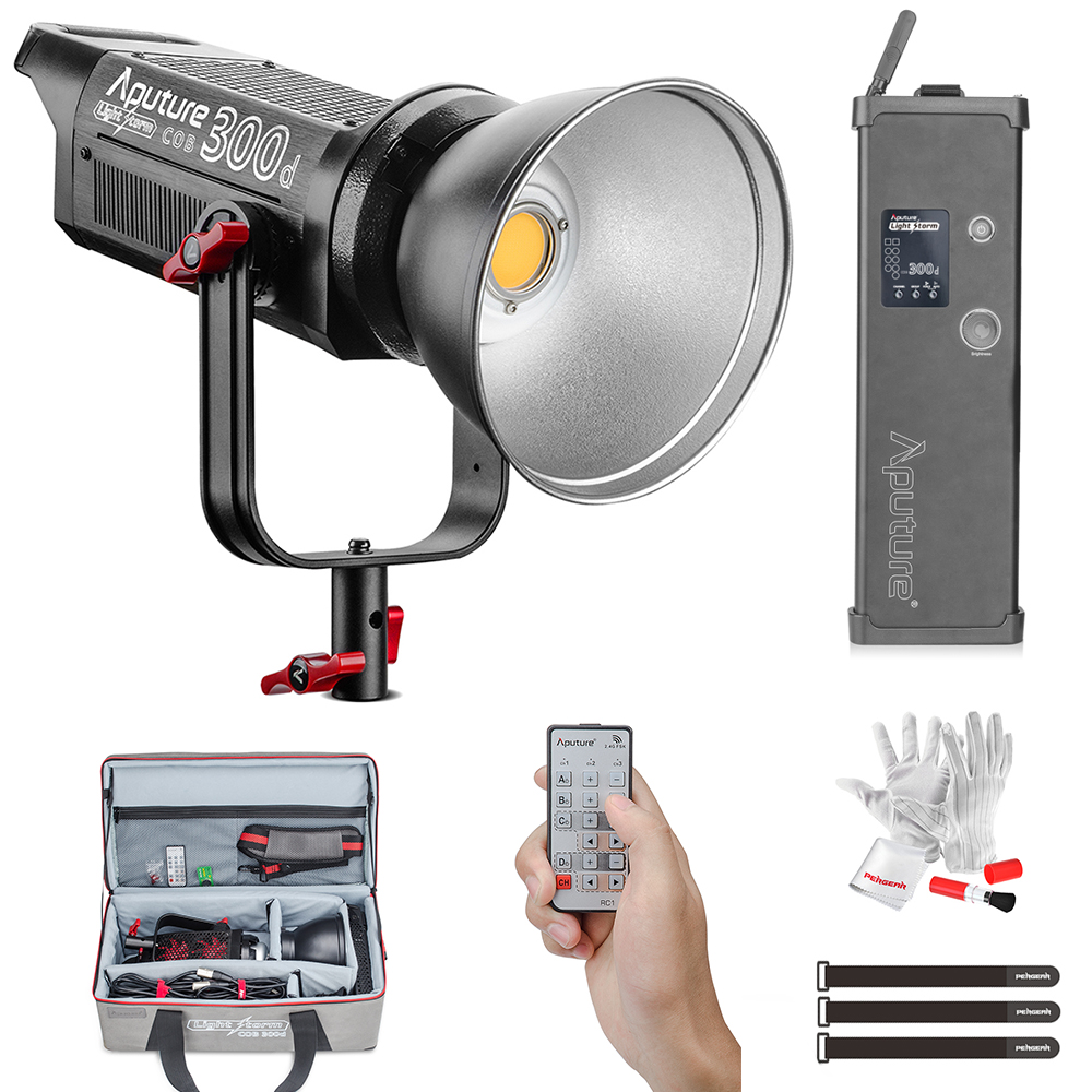 Aputure COB LS C300D 300W 5500K Daylight Balanced LED Video Light CRI95+ TLCI96+ 48000lux@0.5M Bowens Mount 2.4G Remote Control aputure ls c120d portable professional studio tlci cri 96 6000k led video light continuous lighting daylight with bowens mount