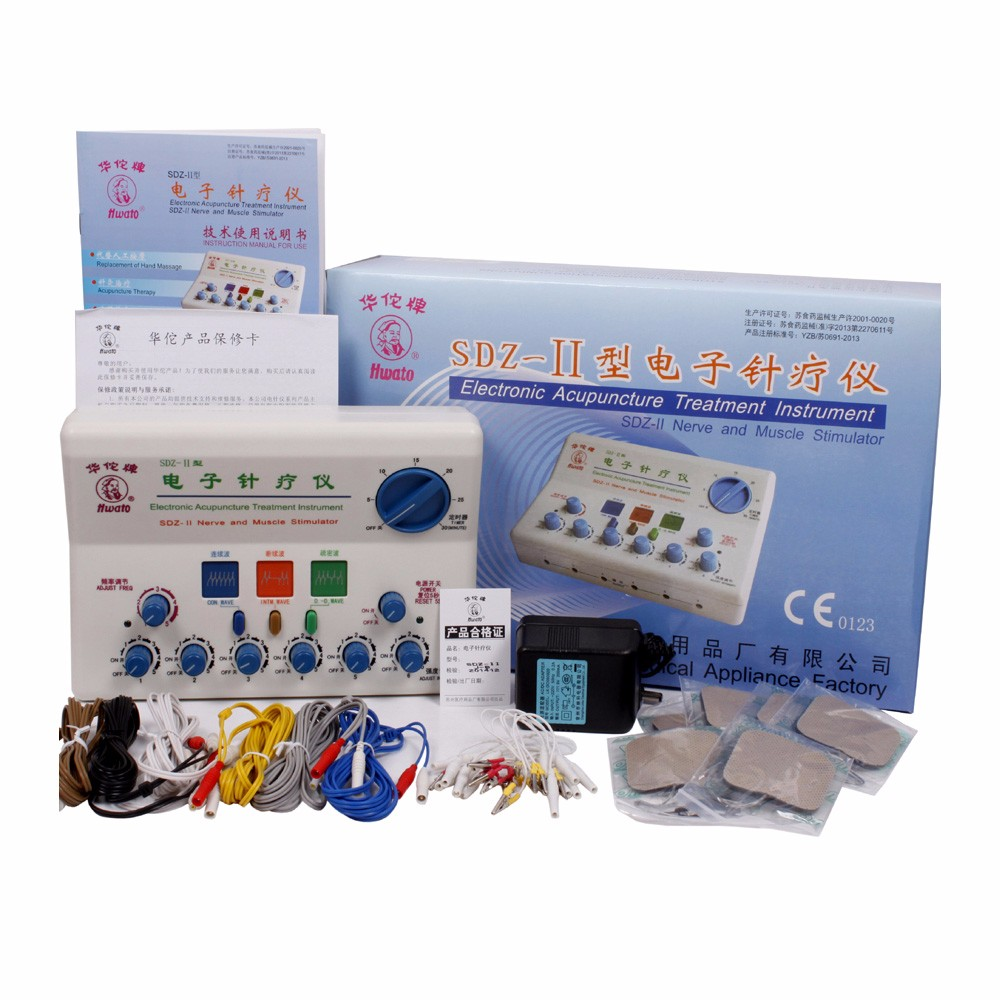 Hwato Brand Nerve and Muscle Stimulator SDZ-II massage electronic pulse needle hwato computer random pulse acupuncture treatment instrument smy 10a nerve and muscle stimulator tens 10 channels output ce appr