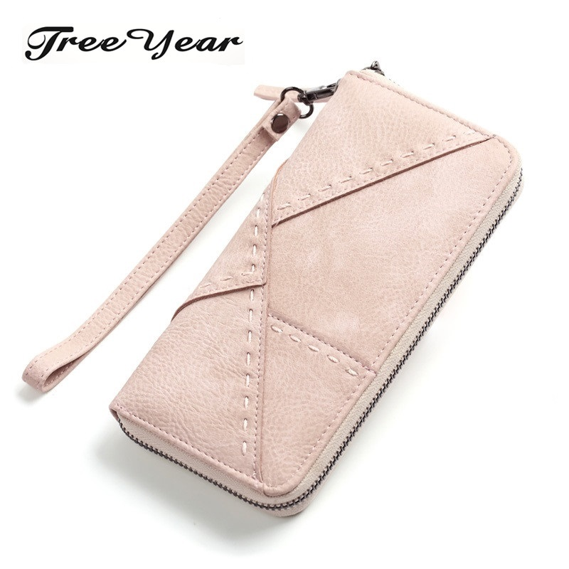 TreeYear Fashion Leather Bag ID Card Holders Big Capacity Women Wallets Ladies Clutch Female Cell Phone Cash Wallet Ladies Purse big capacity women wallets ladies clutch female fashion leather bags id card holders cell phone cash wallet ladies purses bolsas