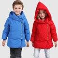 Kids Outwear Coats Woolen Girls For Winter New Warm Jacket Boys Hooded Coat Pocket White Duck Down Children Parka Waterproof Zip