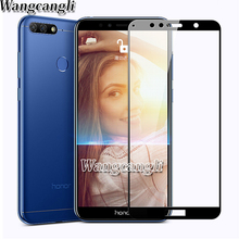 Full Cover Tempered Glass for Huawei Honor 7C 7A Pro 5.7inch AUM-L29 Y6 2018 7S Screen Protector Film Honor 7A AUM-L4 5.45inch 7 jonsnow for huawei honor 7c 5 7 aum l41 tempered glass lcd screen protector for honor 10 9 8 7a 7c pro aum l29 protective film