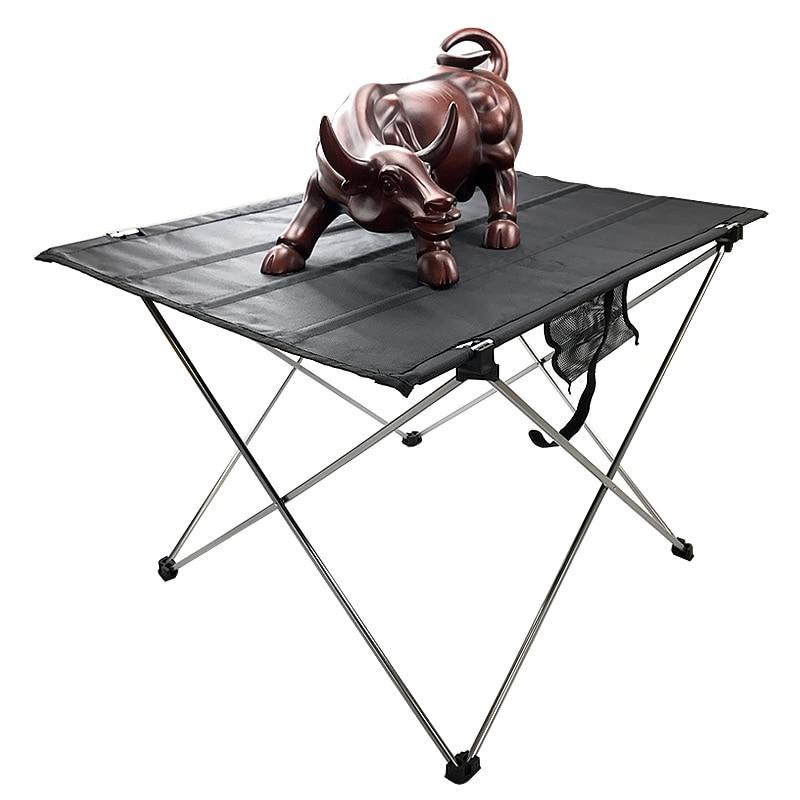 Besorgt Tragbare Faltbare Tisch Camping Outdoor Möbel Computer Bett Tische Picknick 6061 Aluminium Legierung Ultra Licht Klapp Schreibtisch Perfekte Verarbeitung