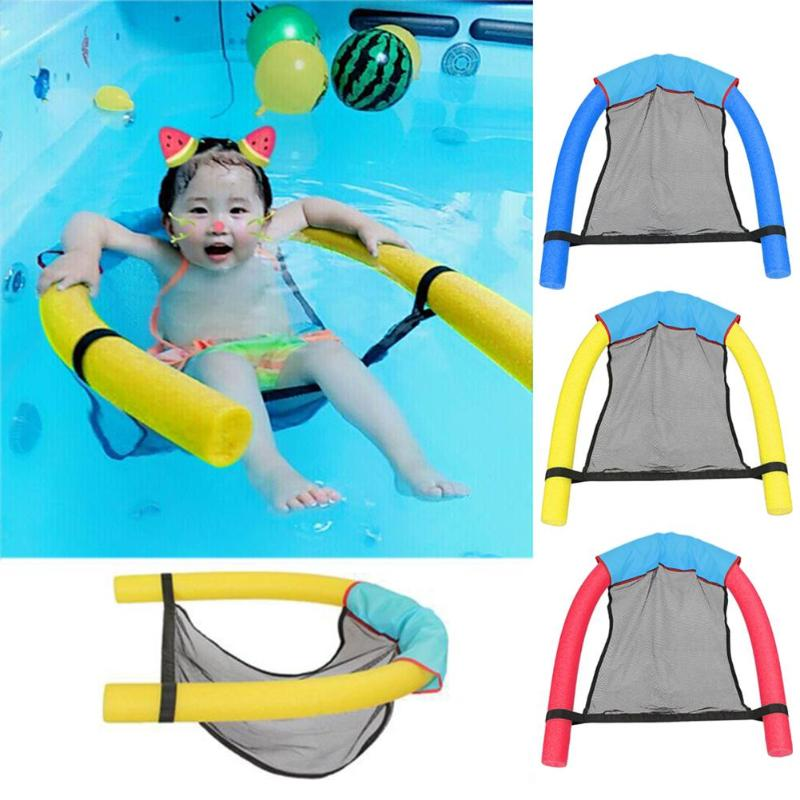 Foldable Water Hammock Swimming Pool Outdoor Increase Inflatable Air Mattress Beach Lounger Floating Sleeping Bed Chair Hammock