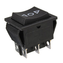 6 Pin DPDT Power Window Sesaat Rocker Switch AC 250 V/10A 125 V/15A untuk Mobil atap Tiang Ganda/Throw Momentary Switch(China)