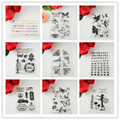 1PCS /LOT Eco-friendly silicone Transparent Stamp CHARACTERS Design For DIY Scrapbooking/Card Making/ Decoration Supplies