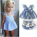 Summer Toddler Girl Clothing Sets Baby Kids Ruffles&bow Belt Tops&lace Pants Clothings Princess Girl Cute Sets