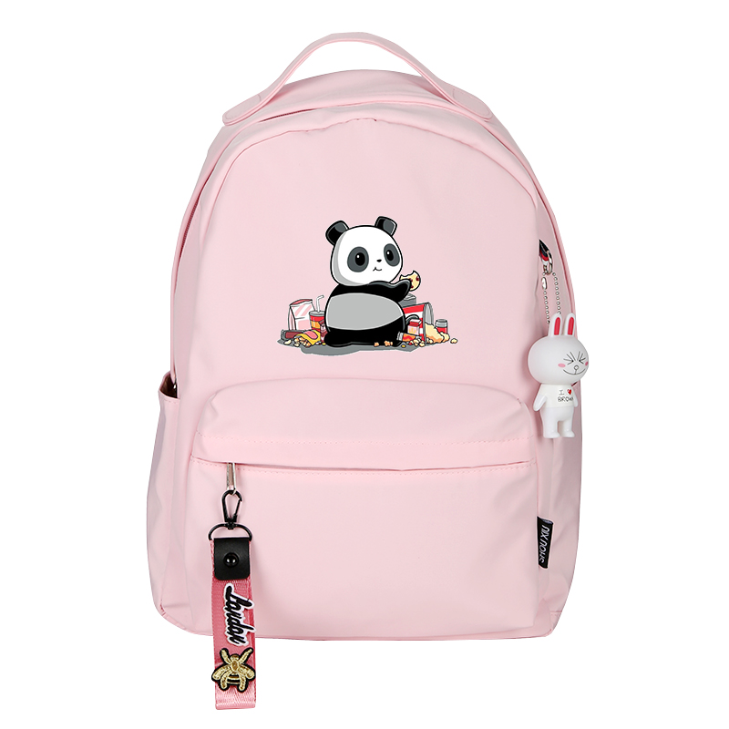 Animal Panda Kawaii Women Backpack Pink School Bags For Teenage Girls Mochila Feminina Nylon Laptop Backpack Girls Bagpack