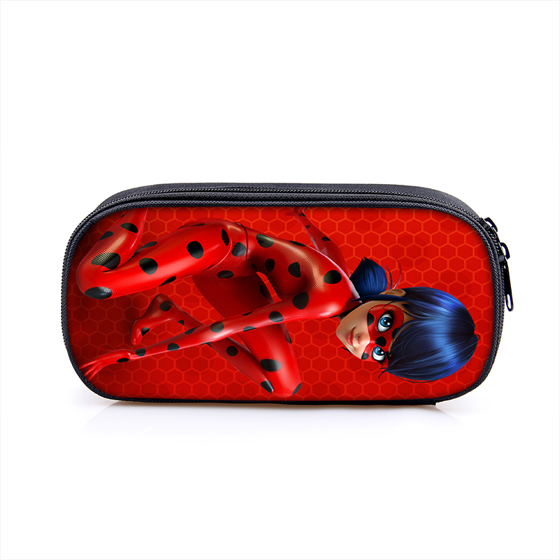 Miraculous Ladybug Marinette Noir Boy Girl Cartoon Pencil Case Bag School Pouches Children Student Pen Bag Kids Purse Wallet стоимость