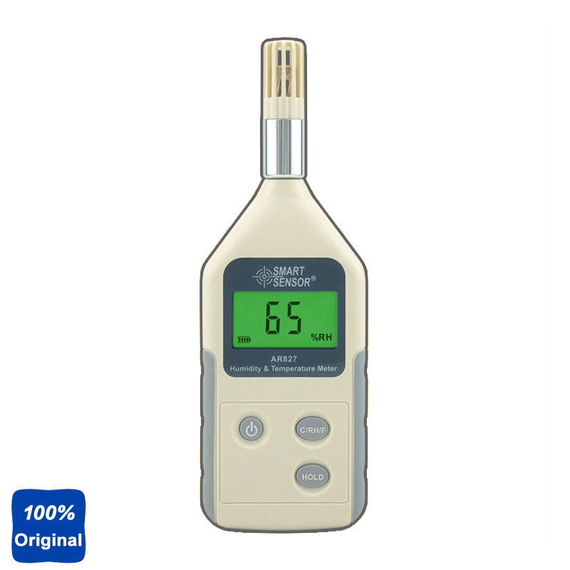 AR827 Digital Industrial Hygrometer Humidity Temperature Meter 10%RH~99%RH digital indoor air quality carbon dioxide meter temperature rh humidity twa stel display 99 points made in taiwan co2 monitor