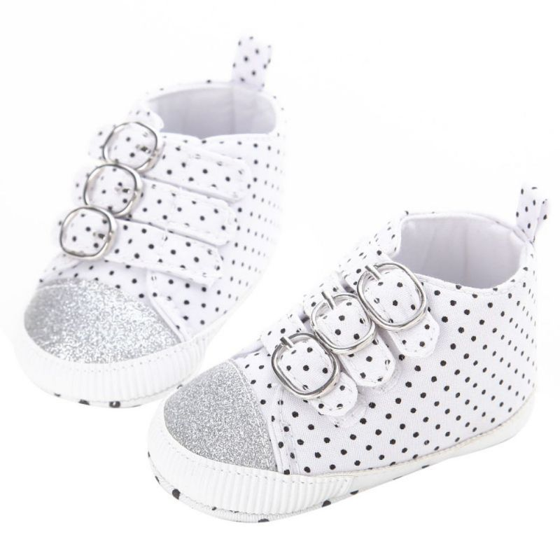Canvas Infant Toddler Boy Baby Kids First Walkers Polka Dots Sports Sneaker High Top Shoes