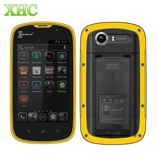 KEN XIN DA Proofing W5 Smartphone 8GB IP68 Waterproof 4.0 inch Andriod 5.1 MTK6735 Quad Core RAM 1GB Network 4G Mobile Phone