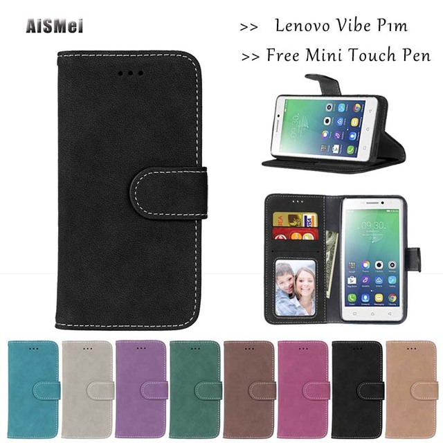"""AiSMei 5.0"""" For Lenovo Vibe P1M Cases Capa Wallet PU Leather Funda for Coque Lenovo P1ma40 Case Filp Cover Card Stand Holder"""