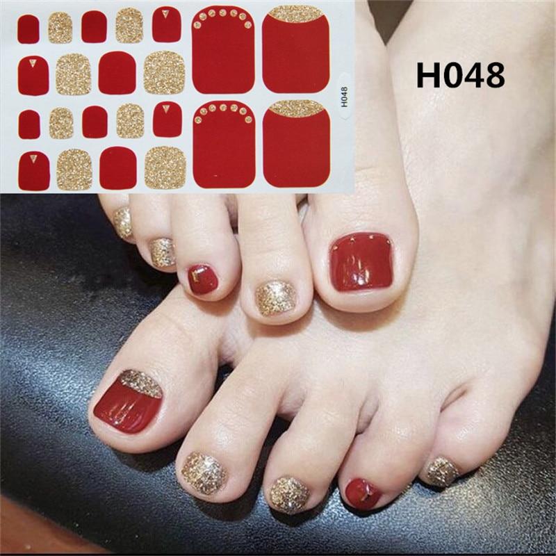 ALI shop ...  ... 32911751801 ... 4 ... 22tips Korea/Japanese Designed Toenail Sticker Full Cover Waterproof Nail Sticker Wraps Toe Nail  DIY Nail Art unas Nail Sticker ...