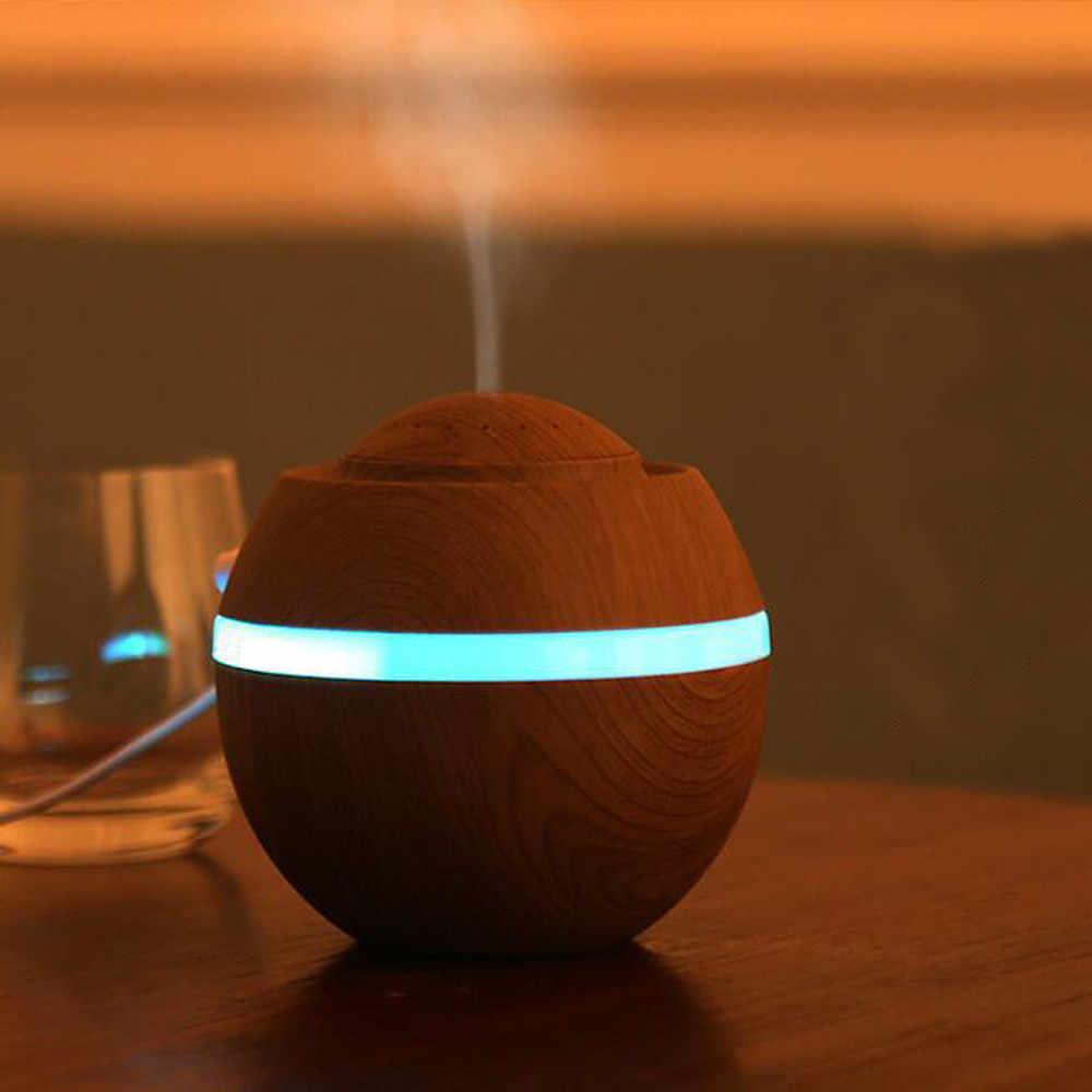 Umidificador de ar, 38 #500ml purificador de ar, 7 cores, led, difusor de óleo essencial, produtor de vapor com névoa luminária noturna de led