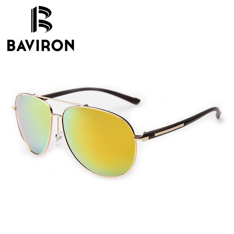 6c2f9cd880 BAVIRON Coating Pilot Sunglasses For Men Mirrored Polarized Tinted Lenses  Driving Glasses Pretty Cool Pilot UV400 Eyewear 2362-in Sunglasses from  Apparel ...