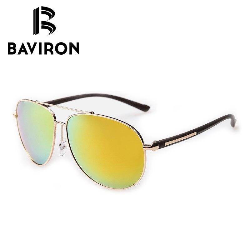 BAVIRON Revestimento Espelhado óculos de Aviador Óculos De Sol Para Homens  Polarizada Lentes Coloridas Óculos de Condução Legal Piloto UV400 Óculos  2362 fd4f93c1ba