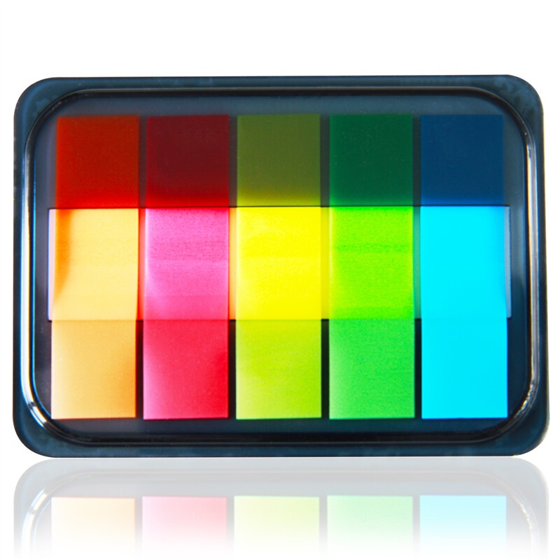 Deli 44x15mm 5 Colors Writeable Sticky Notes Memo Pad Post It Office School Supplies Stationery 9060
