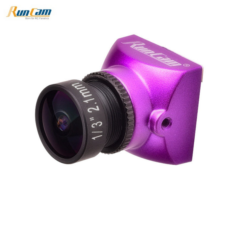 RunCam Micro Sparrow 2 Pro CMOS 2.1mm 700TVL 4:3 Super WDR OSD NTSC/PAL FPV Camera for RC Models Multicopter Part Accs Purple aomway 700tvl hd 1 3 cmos fpv camera pal