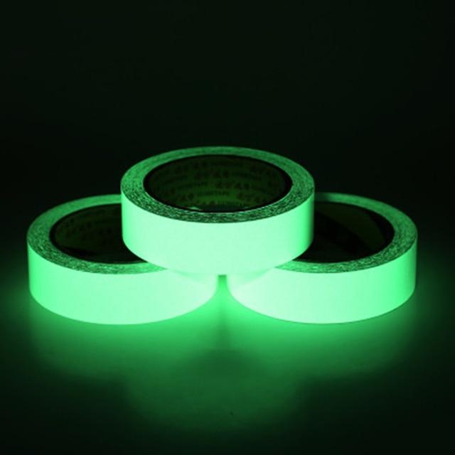 Keythemelife 15 60mmx3M Glow Anti Collision Sticker Warning Luminous Strip  Stickers DIY Fluorescent Stairs