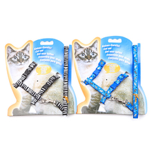 New Quality Kitten Harness Dog Cat Leash Adjustable Pet With Card Packaging For Small Puppy Chihuahua