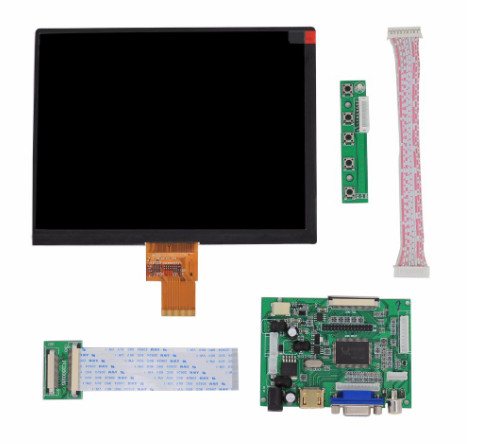 "HDMI/VGA/AV Control Driver Board+8""inch HE080IA-01D 1024*768 high LCD Display For Lattepanda,Raspberry Pi Orange Pi"