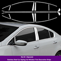 Stainless Steel Car Styling Full Window Trim Decoration Strips For Kia K3  Car Styling 22pcs/set