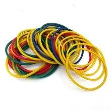 Купить с кэшбэком 25# size stationery office holder colorful elastic band with good elasticity tape holder color rubber band