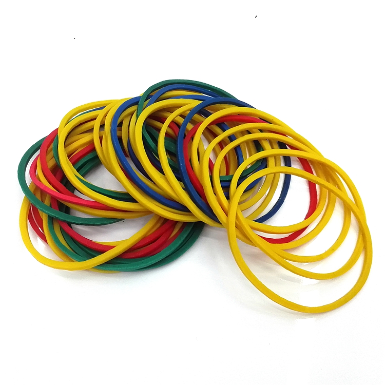 25mm Size Stationery Office Holder Colorful Elastic Band With Good Elasticity Tape Holder Color Rubber Band