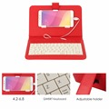 Com fio para android telefone celular móvel de couro macio pu micro usb keyboard capa protetora case suporte capa protetora