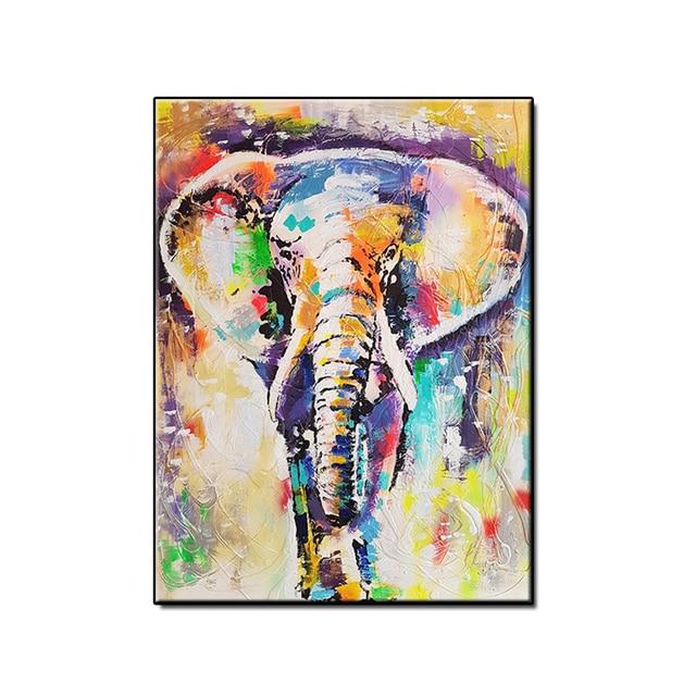 Meilleur Fait à La Main Abstraite éléphant Peinture L Huile