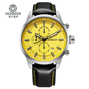 Image 1 - OCHSTIN กีฬานาฬิกาผู้ชายแฟชั่น Casual Chronograph Chronograph นาฬิกาผู้ชายกีฬาชายนาฬิกาควอตซ์ชายนาฬิกานาฬิกาสีเหลือง face