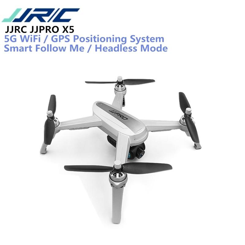 JJRC JJPRO X5 5g WiFi FPV RC Drone GPS Positionnement Maintien D'altitude 1080 p Caméra Point De Intéressant Suivre brushless Moteur VS MJX
