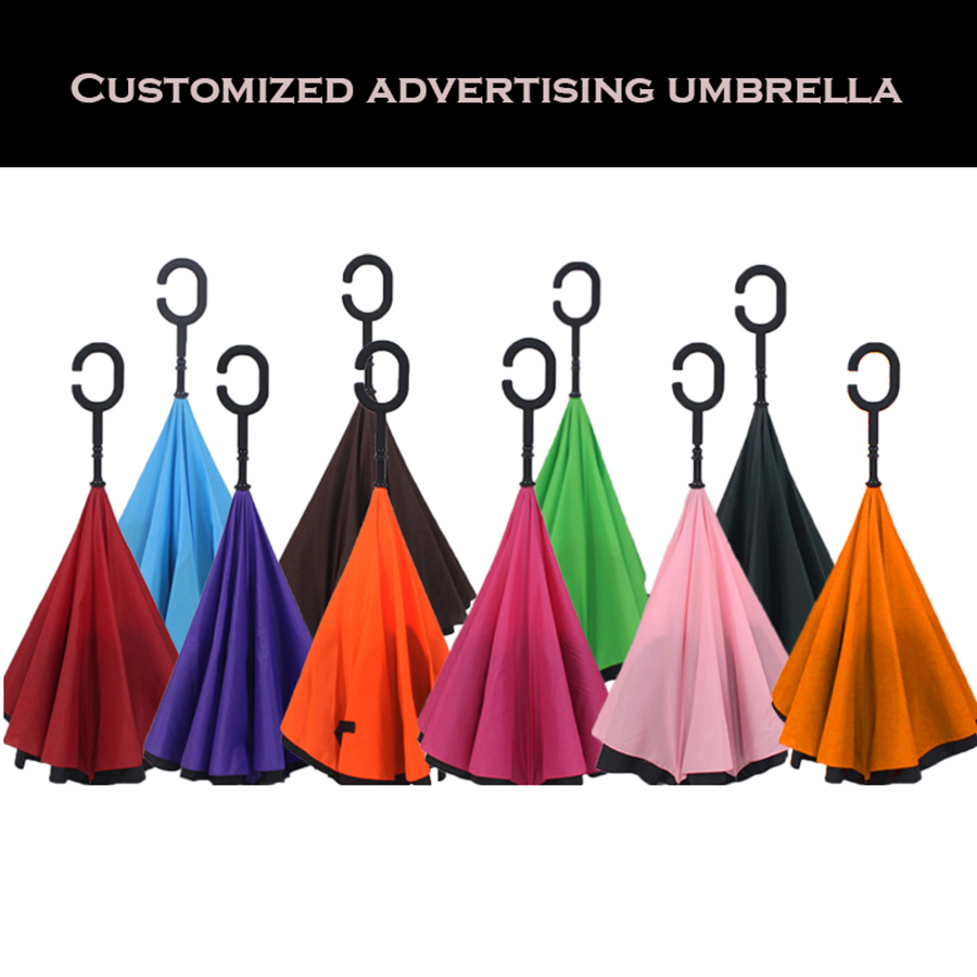 Double Layer Reverse Men Business Umbrella Big Parasol Auto Hands Free Advertising Personalized Umbrella Gifts DDDY0