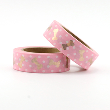1X cute pink bones and dots Washi Tape Colors Set Stationery Decorative Scrapbooking Christmas washi tape Scrapbook Paper