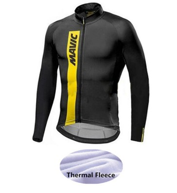 2018 New Long Sleeve Winter Thermal Fleece Bicycle Mavic Cycling Jersey /Super Warm Winter Moutain Bike Cycling Clothing -33WW black thermal fleece cycling clothing winter fleece long adequate quality cycling jersey bicycle clothing cc5081