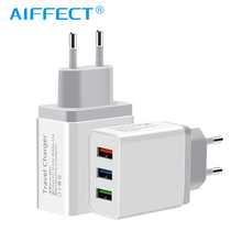 AIFFECT USB Charger for iPhone X 8 7 iPad Fast Wall Samsung S9 Xiaomi mi Huawei 1 2 3 Ports Mobile Phone