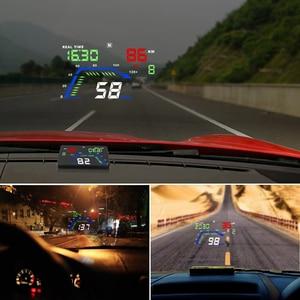 Image 3 - Q7 ユニバーサル車のgps hudスピードメーターカーエレクトロニクスQ700 obdヘッドアップディスプレイフロントガラスプロジェクターセキュリティアラームドライビング